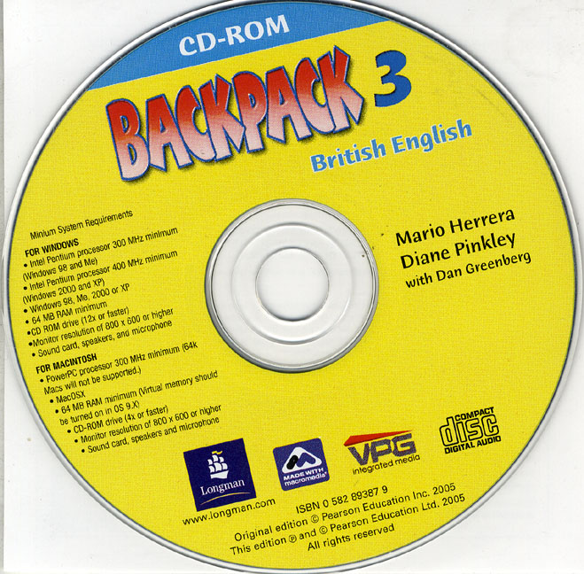 Backpack 3 Students CD-ROM