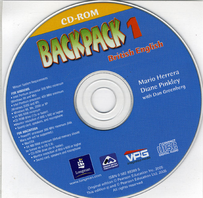 Backpack 1 Students CD-ROM